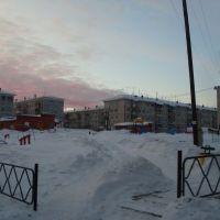 детская площадка под снегом, Бородино