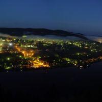 Дивногорск ночью, Дивногорск