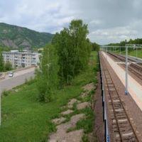 Панорама Дивногорска с железнодорожной станции, Дивногорск