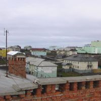 Вид с крыши на поселок, Диксон