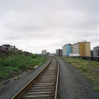 Railroad to the south, Dudinka, July 2007, Дудинка