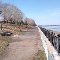 Набережная р.Енисей(2 мая 2014г), Енисейск