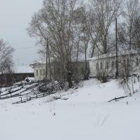 огороды на берегу мельничной, Енисейск