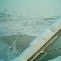 мост зимой, Заозерный