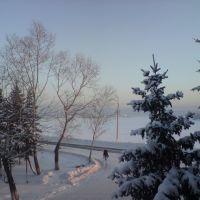 Вид на р. Кан (зима), Ирбейское