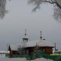 Kazachinskoye, Krasnoyarsk Territory, the temple of the Holy Trinity, Казачинское