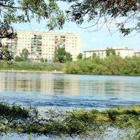 вид с острова на реке Кан, Канск