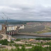 The river Angara.  Construction of the Boguchansk HYDRO POWER PLANT. 2009г., Кежма