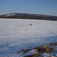 Ангара зимой, Кежма