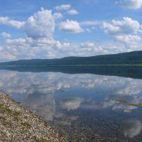 В реку смотрятся облака., Кежма