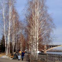На набережной Енисея, Красноярск
