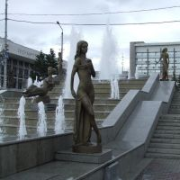 Russia. Krasnoyarsk. The fountain, symbolizing the Yenisei river and its confluents (31450856), Красноярск