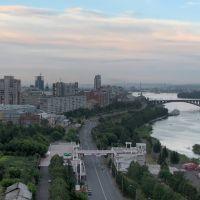 Летний вечер над Красноярском, Красноярск