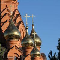 Купола Крестовоздвиженского храма., Лесосибирск