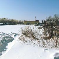 building and gardens in the village Nizhniy Ingash, DK, krasnoyarsk, winter 2010, Нижний Ингаш