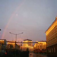 Polar Days Night. Night Rainbow! Leninskiy Prospekt. 01:41, 19 July 2001, Норильск