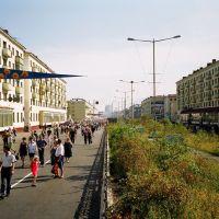 The City Day. Leninskiy propekt - end. 17:01, 14 July 2001, Норильск