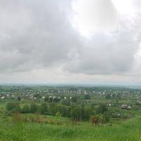 Железногорск. Дачная панорама на фоне грозовых туч, Партизанское