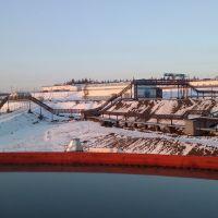 Вид фабрики с 45вого сгустителя, Северо-Енисейский