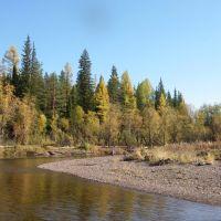 река Корда, в среднем течении, Северо-Енисейский