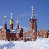 Храм в Кодинске зимой, Кодинск