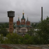 Вид на новый храм с крыши старого, Далматово