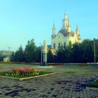 Утро лето г.Шадринск Спасо-Преображенский собор  2012г, Шадринск