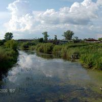 Вид на Мостовку с моста на Ленина, Шатрово