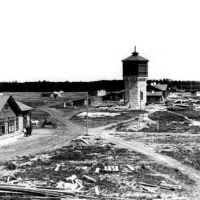 Строительство станции Шумиха 1892 год общий вид., Шумиха