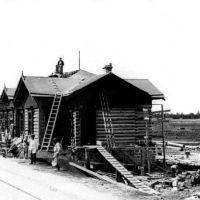 Строительство станции Шумиха 1892 год вокзал, Шумиха