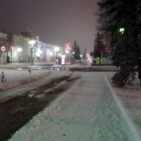 new year in Lenin Street, Курск