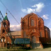 Собор Серафима Саровского, г.Курчатов - вид с боку - (стройка), Курчатов
