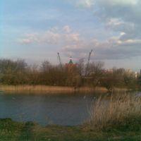 Собор Серафима Саровского, г.Курчатов - вид с Стадиона - (стройка), Курчатов
