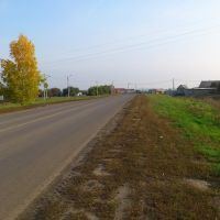 Западный въезд в Медвенку., Медвенка
