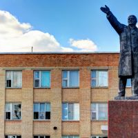 Lenin vor dem Rathaus, Поныри