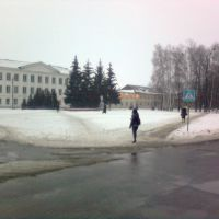 School no.2, Lenin square, Central park, Пристень