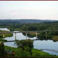 Рыльск. Пешеходный мост через Сейм, Рыльск