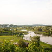 Река Сейм. Слева Рыльский Свято-Николаевский мужской монастырь, Рыльск