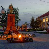 Мемориал погибшим в Великой Отечественной войне в городском парке., Суджа