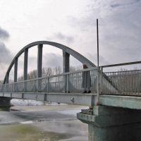 pedestriam bridge across Sudzha river (пешеходный мост через реку Суджа), Суджа