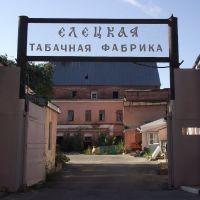 Ворота табачной фабрики, Елец