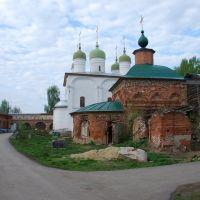 Лебедянь. Внутренний вид Троицкого монастыря., Лебедянь