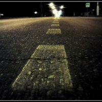 Ночная улица Ленина- Дворянская, Липецк