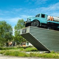 """Памятник """"Автомобилю Труженику""""., Палатка"""