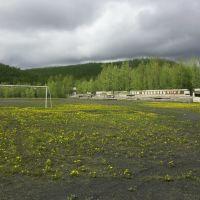 Усть-Омчугский стадион, июнь 2004, Усть-Омчуг