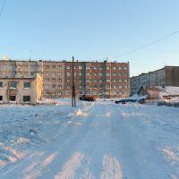 Дом на ул.Кооперативной. п.Эвенск, февраль 2009 г. Фото В.Лахненко, Эвенск