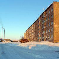 Дом 21 по ул. Кооперативной. п.Эвенск, январь 2009 г. Фото В.Лахненко, Эвенск