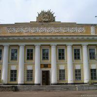 Бывшее здание горкома партии. Сейчас музей и медицинское училище и т.д., Волжск