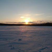 Зимний закат, Звенигово