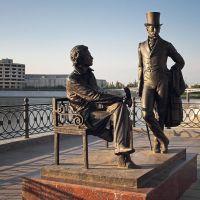 """Скульптурная композиция """"Пушкин и Онегин"""", Йошкар-Ола"""